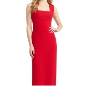 Red BCBG MaxAzria Gown.